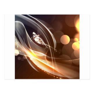 Abstrakte Kristall-Unterzeichnungs-Lichter Postkarte