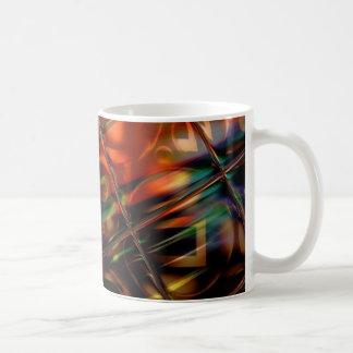 Abstrakte Kunst-beflecktes Glas-bunte Geschenke Kaffeetasse