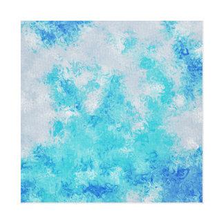 abstrakte Kunst bkue Flecks Leinwanddruck
