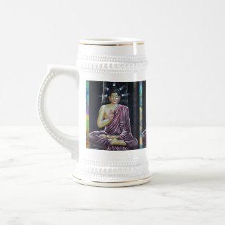 Abstrakte Kunst Buddha Stine Bierglas