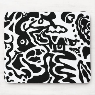 "Abstrakte Kunst ""der Fische"" Mousepad"