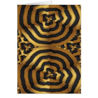 Abstrakte Kunst der Goldgoldenen Welle auf Shirts Karte