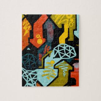 Abstrakte Kunst der Pfeile Puzzle