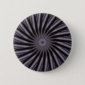 Abstrakte Kunst der Schwarz-weißen und grauen Runder Button 5,7 Cm