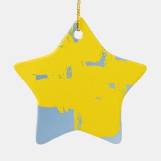 abstrakte Kunst des Gelbs 783 Keramik Stern-Ornament
