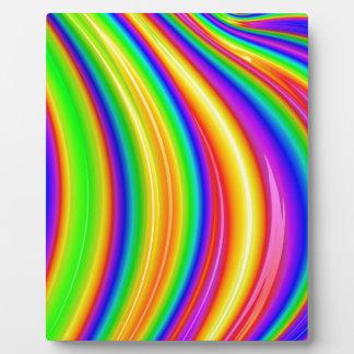 Abstrakte Kunst des Regenbogens 3D Fotoplatte