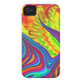 Abstrakte Kunst des Regenbogens 3D iPhone 4 Cover