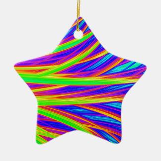 Abstrakte Kunst des Regenbogens 3D Keramik Ornament