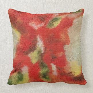 Abstrakte Kunst, die rote orange Kissen