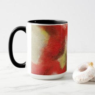 Abstrakte Kunst, die rote orange Tasse