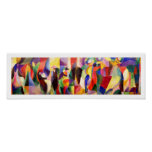 Abstrakte Kunst durch Sonia Delaunay - TangoBal Bu Plakatdrucke