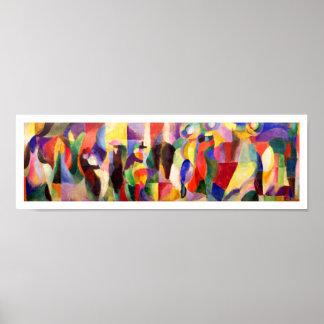 Abstrakte Kunst durch Sonia Delaunay - TangoBal Bu Poster