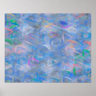 Abstrakte Kunst farbige Dreiecke Poster