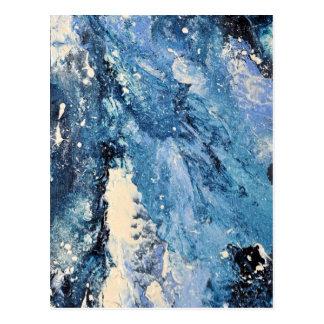 Abstrakte Kunst - Frost-Fluch Postkarte