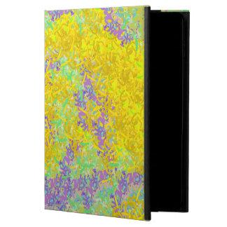 Abstrakte Kunst-gelbes und lila Muster