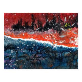 Abstrakte Kunst - Gleichgewicht Postkarte