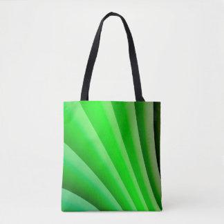 Abstrakte Kunst-grüne Welle Tasche