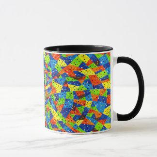 Abstrakte Kunst-helles und buntes punktiertes Tasse