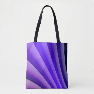 Abstrakte Kunst-lila Welle Tasche