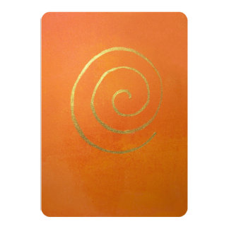 Abstrakte Kunst-moderne Farborange Ankündigungskarte