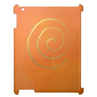 Abstrakte Kunst-moderne Farborange iPad Hülle