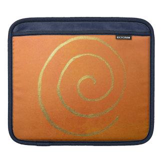 Abstrakte Kunst-moderne Farborange iPad Sleeve