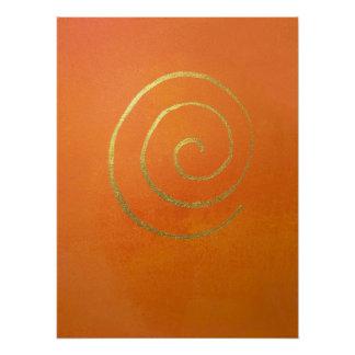 Abstrakte Kunst-moderne Farborange Perfektes Poster