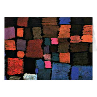 Abstrakte Kunst Pauls Klees, kommend zur Blüte Karte
