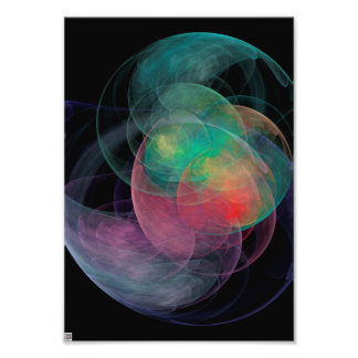 Abstrakte Kunst-Raum-Muschel Fotodruck