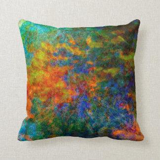 Abstrakte Kunst-Regenbogen-Farben Kissen