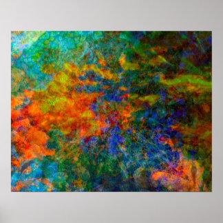 Abstrakte Kunst-Regenbogen-Farben Poster