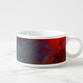 Abstrakte Kunst Rot, Aquau. Goldgrunge-Digital Schüssel