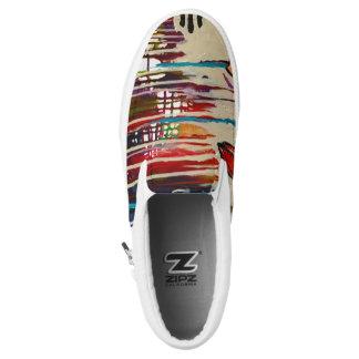 Abstrakte Kunst-Schuhe Slip-On Sneaker