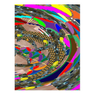 Abstrakte KUNST: STADION Arena-Ausstellung erdet Postkarte