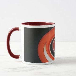 Abstrakte Kunst-Tasse des roten Strudels Tasse