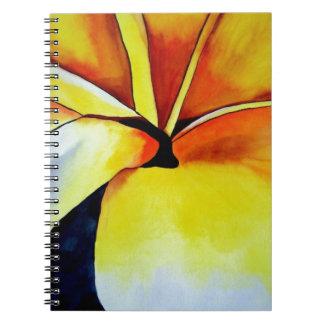 Abstrakte Kunst tropischen Frangipani-Blume Notizblock