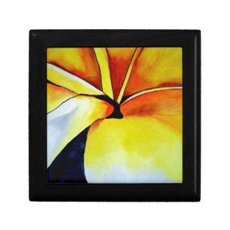 Abstrakte Kunst tropischen Frangipani-Blume Schmuckschachtel