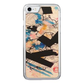 abstrakte Kunst, Watercolorkunst, Wirble Carved iPhone 8/7 Hülle