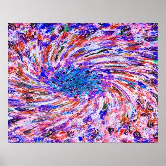 Abstrakte Kunstbunter lila Whirl-Hintergrund Poster