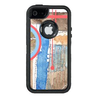 abstrakte Kunstcollage, Mischmedien und Watercolor OtterBox iPhone 5/5s/SE Hülle