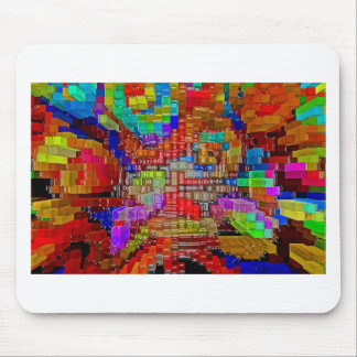 Abstrakte Kunstmalereiplakatbüro-T - Shirtdrucke Mousepad