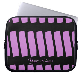 Abstrakte Laptop-Computer Hülse, Fuschia u. Laptop Sleeve