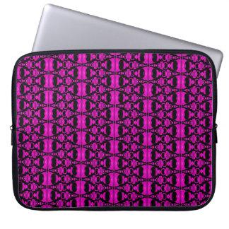 Abstrakte lila rosa Schwarzes der Muster-Teiler-02 Laptopschutzhülle
