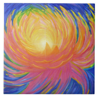 Abstrakte Lotos-Blume Fliese