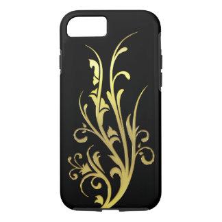 Abstrakte LuxusImitat-GoldBlume iPhone 8/7 Hülle