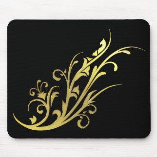 Abstrakte LuxusImitat-GoldBlume Mousepads