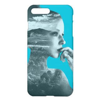 Abstrakte Mädchen iPhone 7 glatter Endplusfall iPhone 8 Plus/7 Plus Hülle