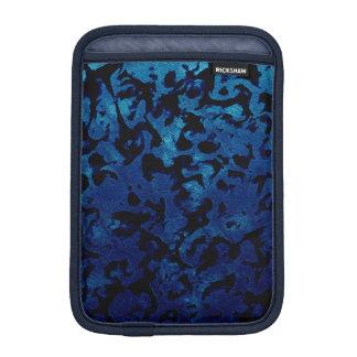 Abstrakte Magie - Marine-Blaugrunge-Schwarzes iPad Mini Sleeve