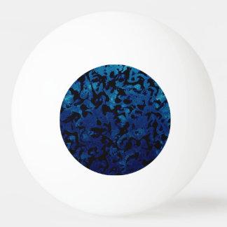 Abstrakte Magie - Marine-Blaugrunge-Schwarzes Ping-Pong Ball