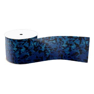 Abstrakte Magie - Marine-Blaugrunge-Schwarzes Ripsband